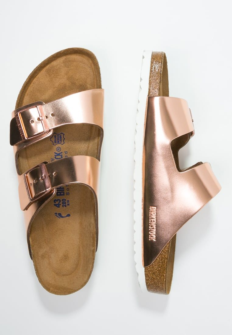 ARIZONA Pantolette flach metallic copper @