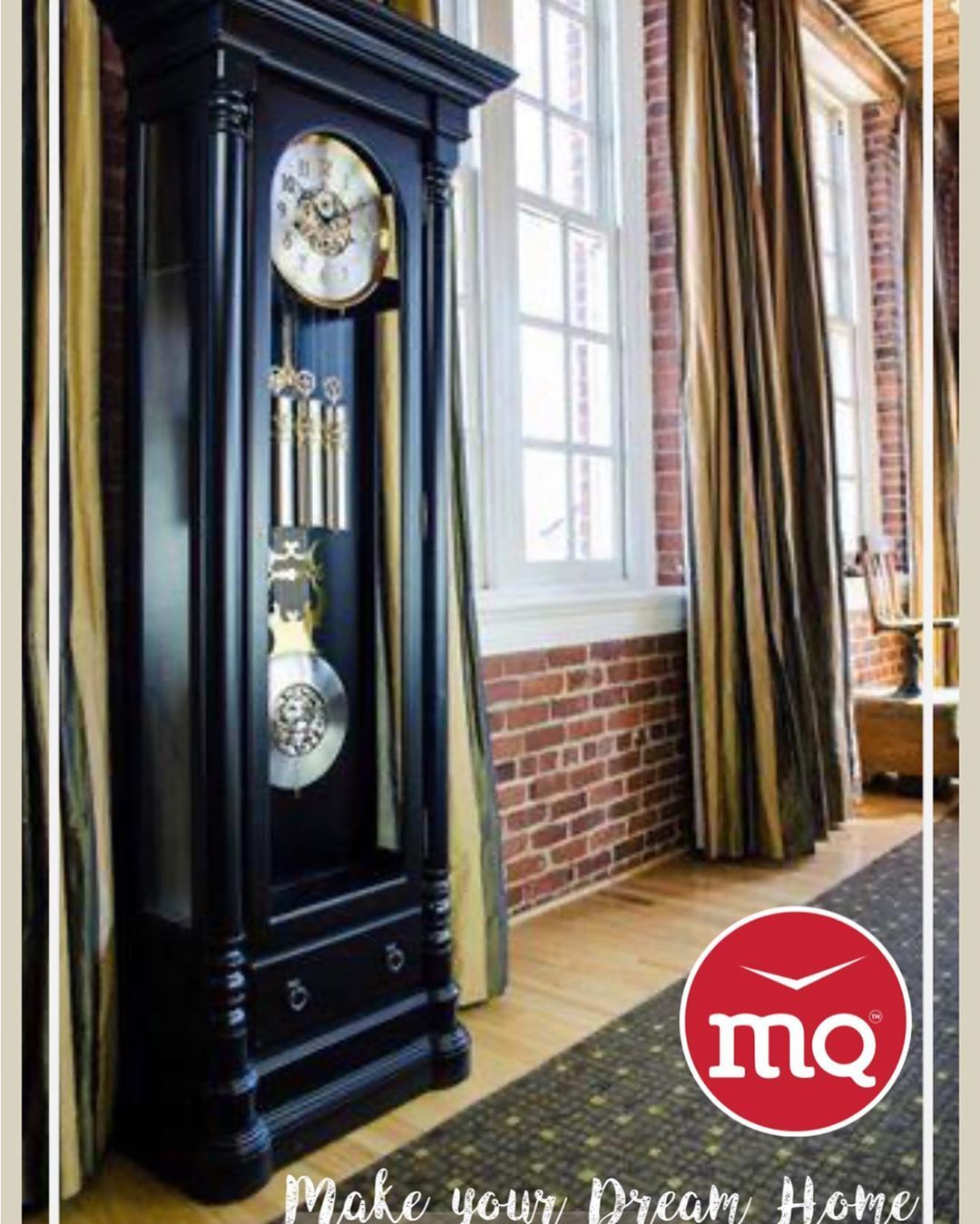 """""""Collect things you love ,that are authentic to you &  your 🏡 HOUSE 🏠 becomes your Story"""" MQ black matted Grandfather Clock Explore more @ MQ wooden clock Call/whatsapp 099617 77723"""