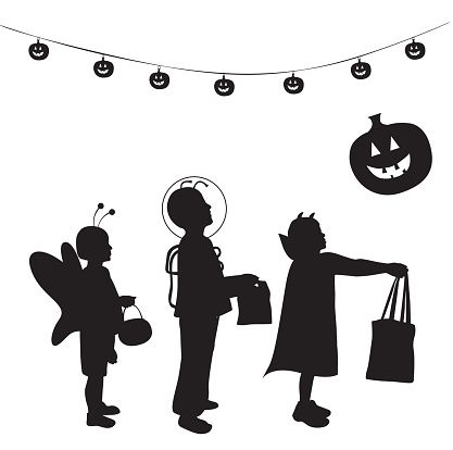 Trick Or Treat Clip Art Vector Images  Illustrations  Istock