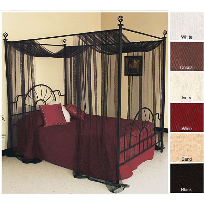 Bed net · Enclose your bedroom in luxury with this sheer bedroom curtain. This sheer netting curtain panel & Enclose your bedroom in luxury with this sheer bedroom curtain ...
