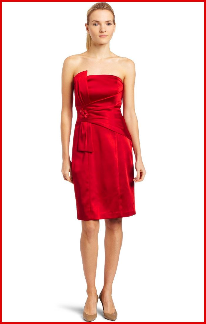 Red Cocktail Dresses  Jax Strapless Satin Red Cocktail Dress ...