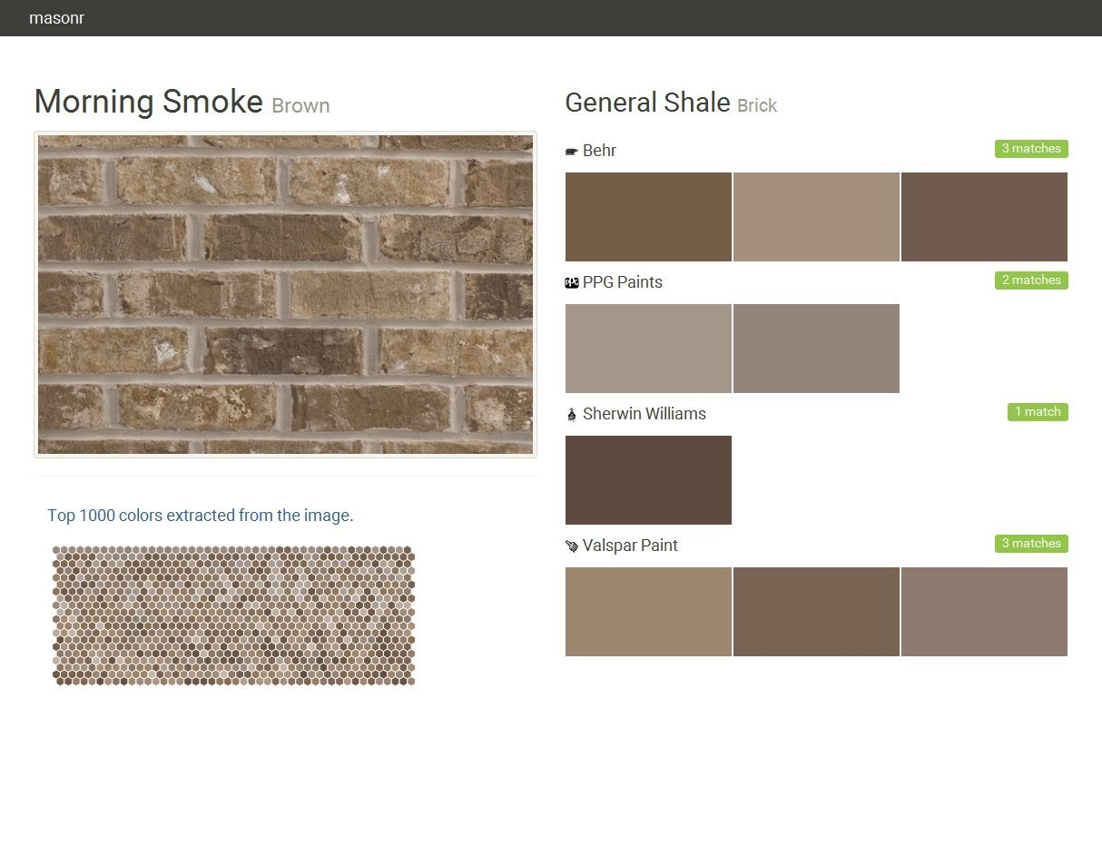 Morning Smoke Brown Brick General Shale Behr Ppg