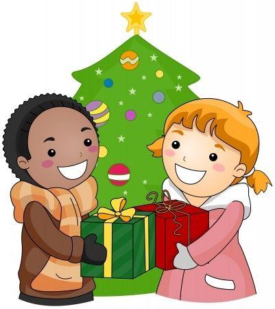 cartoon of kids giving gifts | My Kid's Food Allergies ...