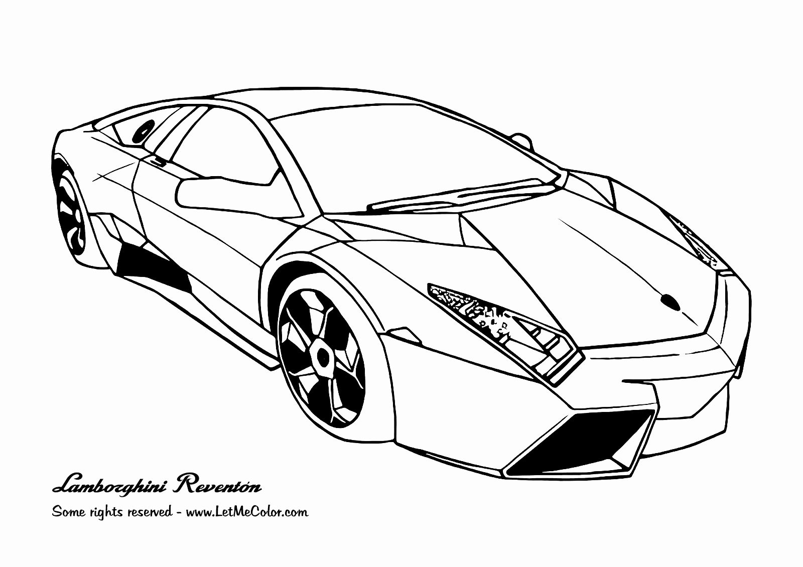Cool Car Coloring Pages Inspirational Lamborghini Reventon