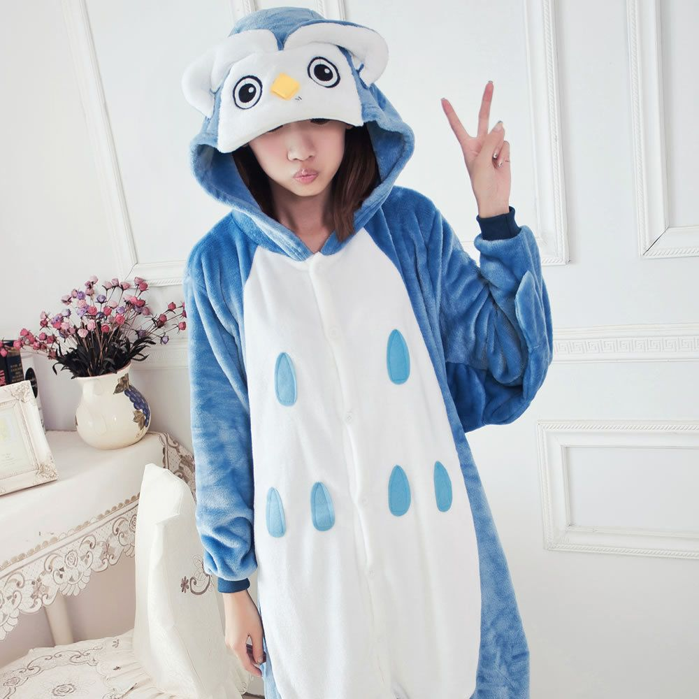 49fa8a5d Flannel family animal pajamas one piece onsies onesies cosplay ...