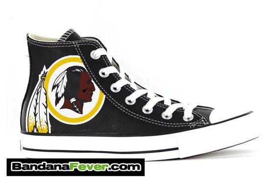 3d9e74882e2a Converse Hi Black Washington Redskins FREE by BandanaFeverShoes ...