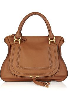 9345e9660d9 Chloe Marcie Leather Tote in Camel