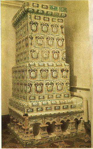 Русские изразцовые печи — Дровяные камины (215 фото)