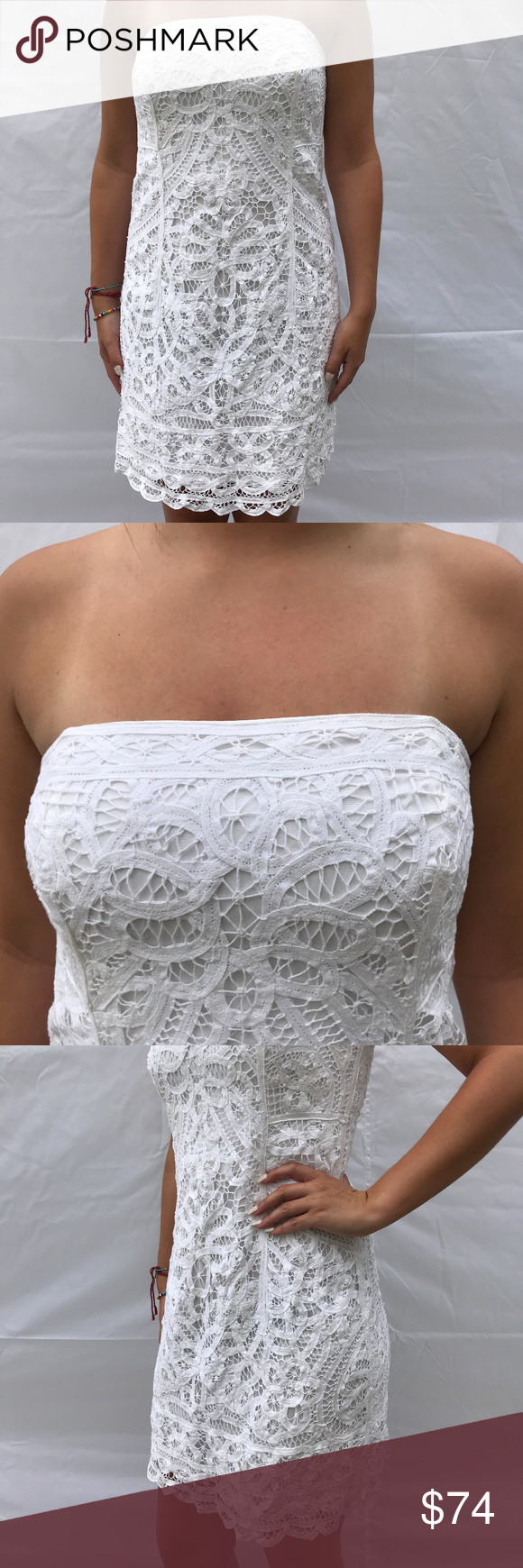 Lilly Pulitzer Strapless Crochet Lace Dress M Lace Dress Crochet Lace Dress Dresses [ 1740 x 580 Pixel ]