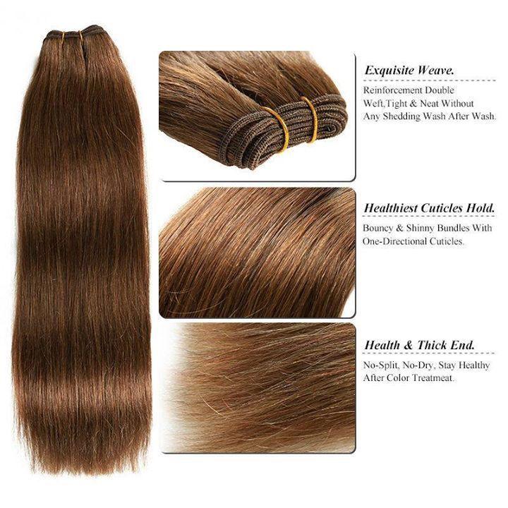 E Hair Treses Extensions Afeleies Postis Remy Hair Weft
