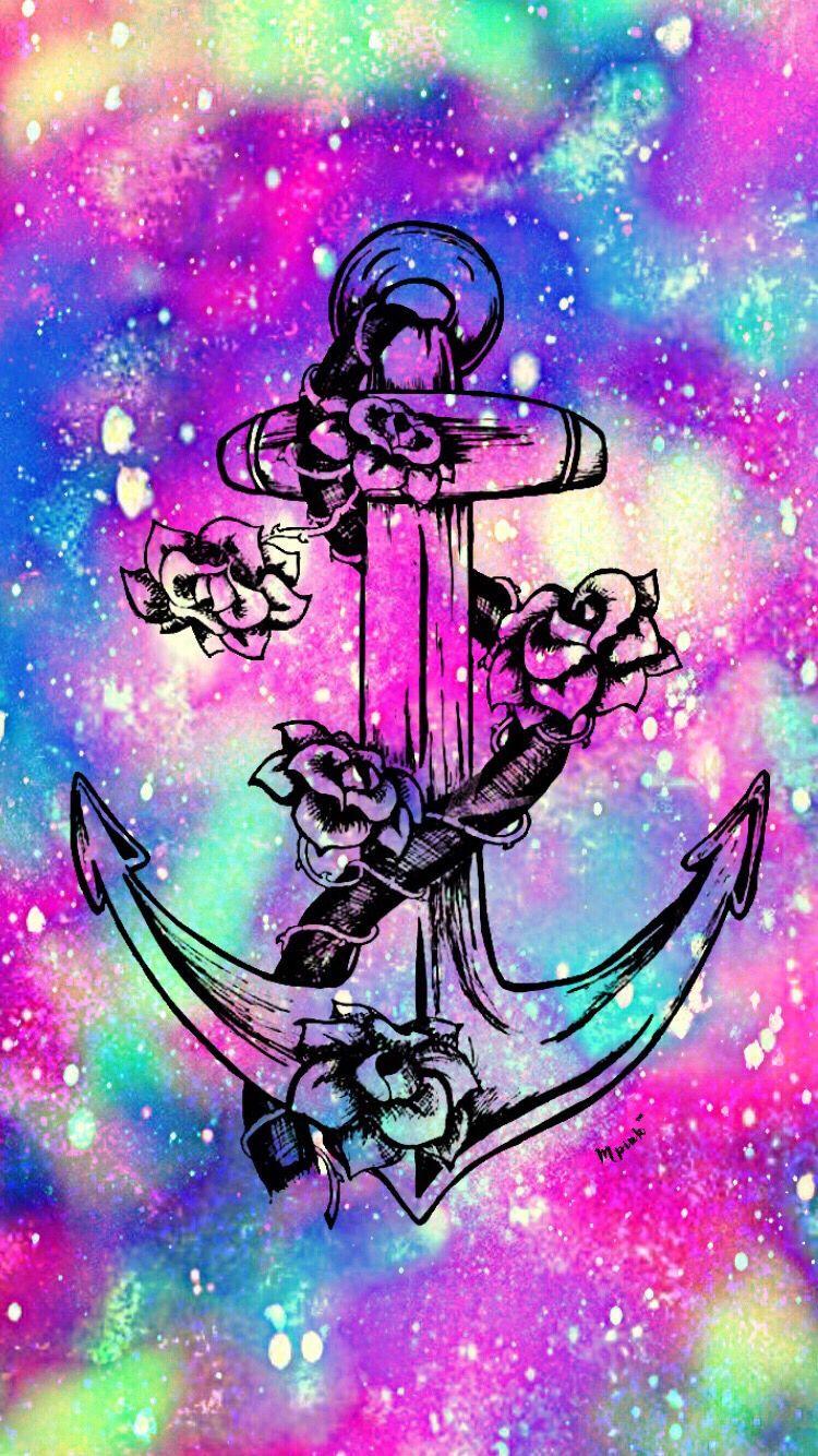 Flower Galaxy Anchor Wallpaper , Anchor AnchorWallpaper