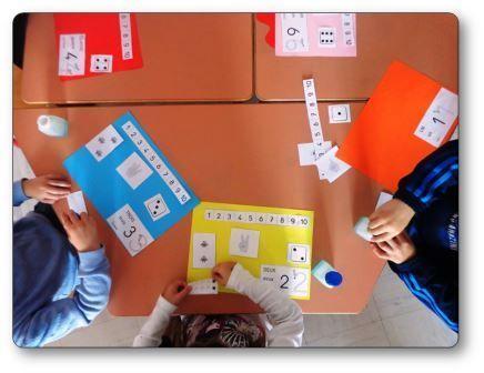 Realiser Un Livre Des Nombres En Maternelle Eleves En Activite Fabriquer Un Livre Maternelle Mathematique Maternelle