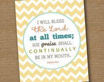 Psalm 34:1 Memory Verse