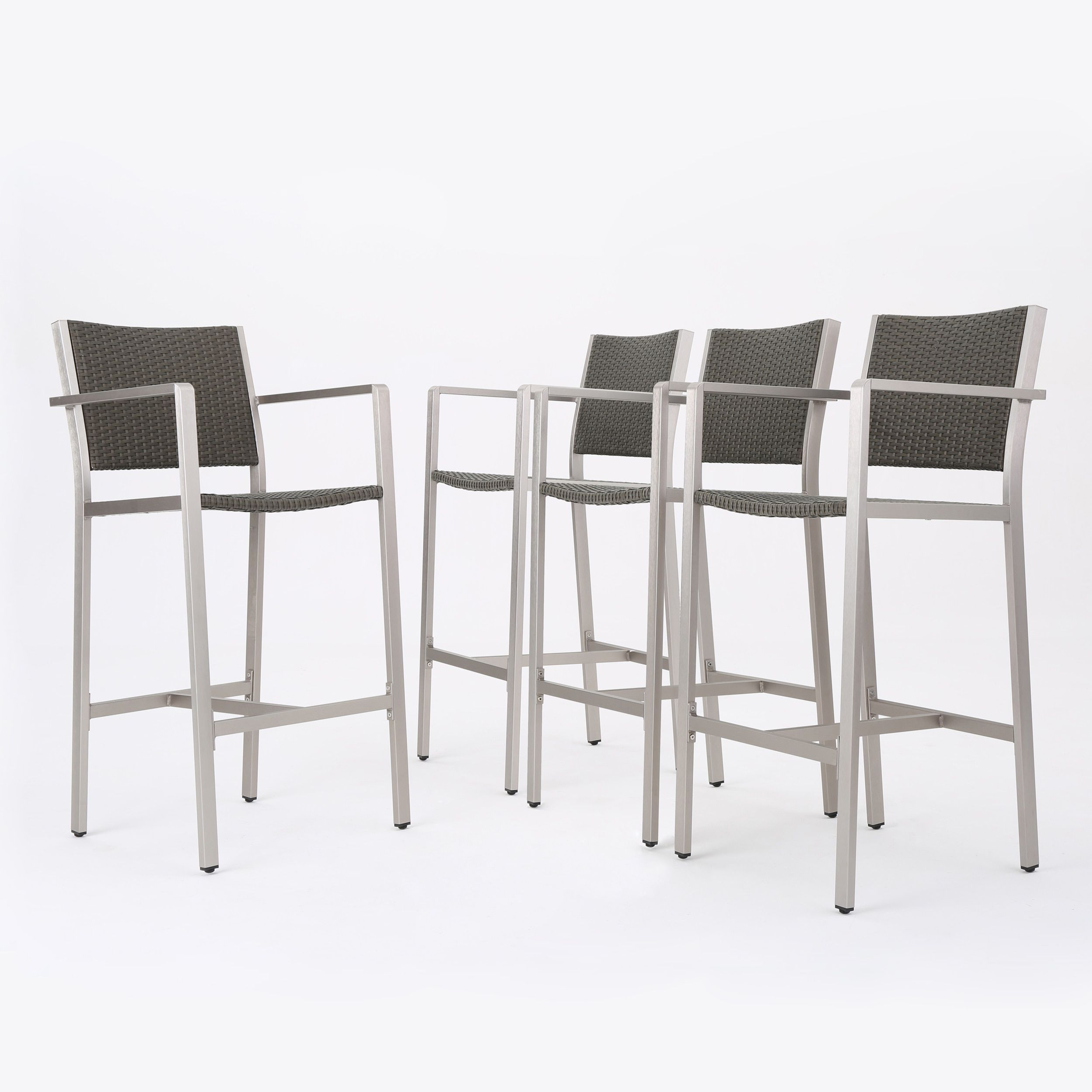 Cape Coral Outdoor Wicker Barstool (Set of 4) by Christopher ...