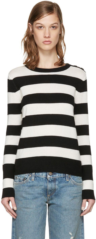 21368e4bf7d RAG   BONE White   Black Careen Stripes Pullover.  ragbone  cloth  pullover