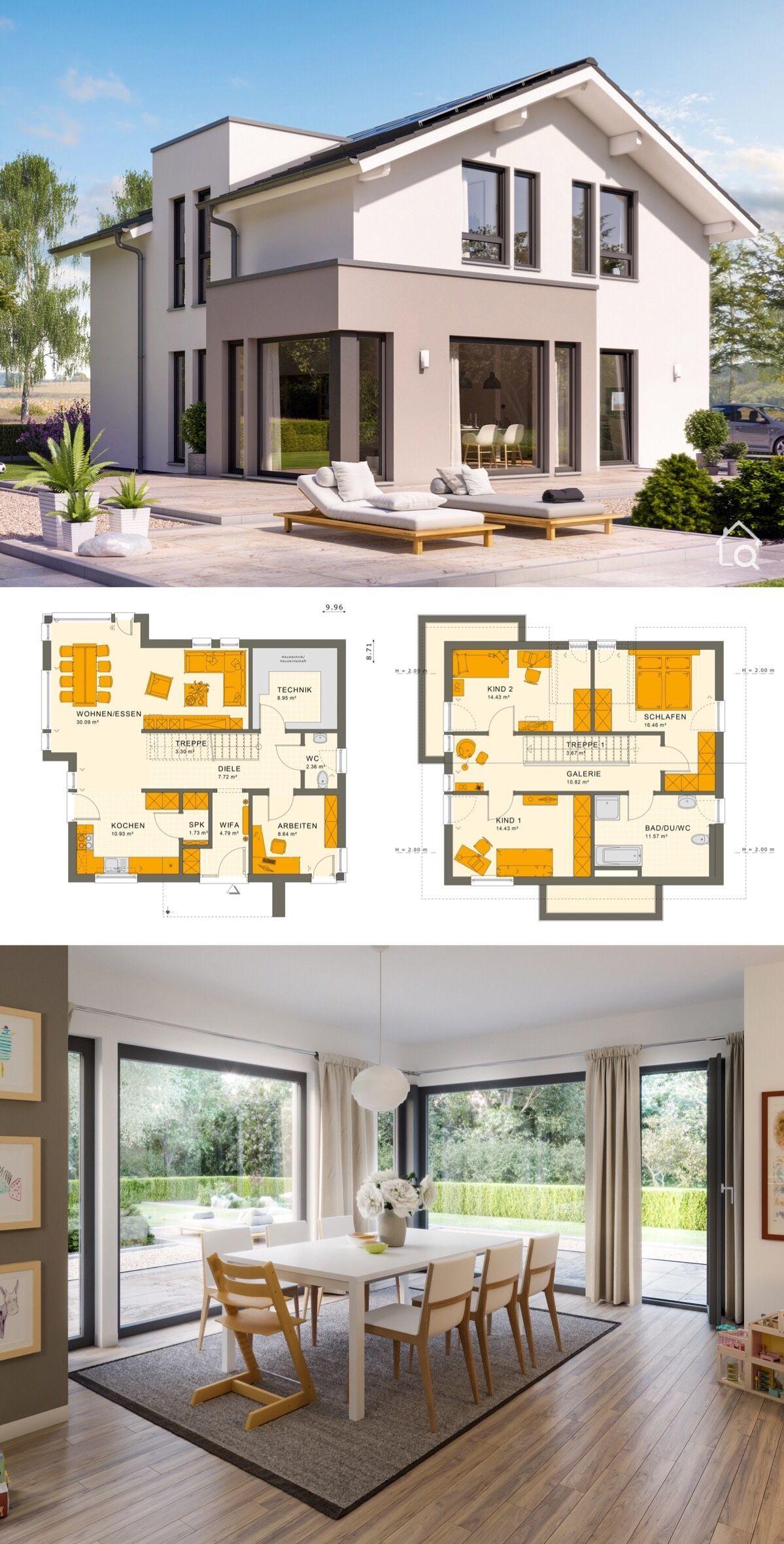 Two Floor House Plans Modern Contemporary European Minimalist Styles