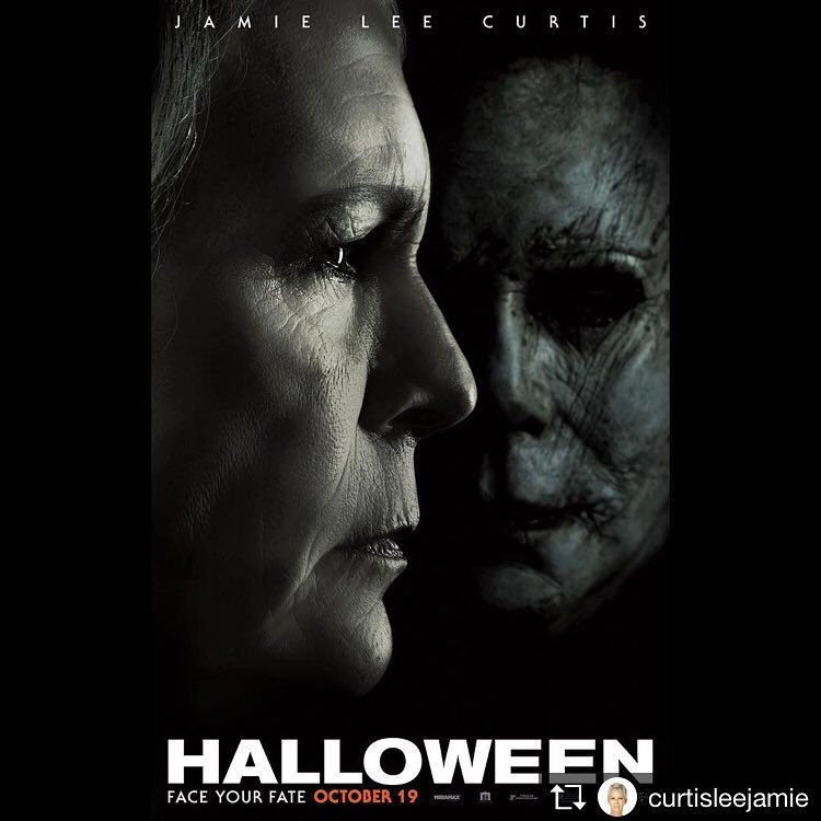 Mike Myers Judy Greer - Jamie Lee Curtis 24x36 Halloween 2018 Movie Poster