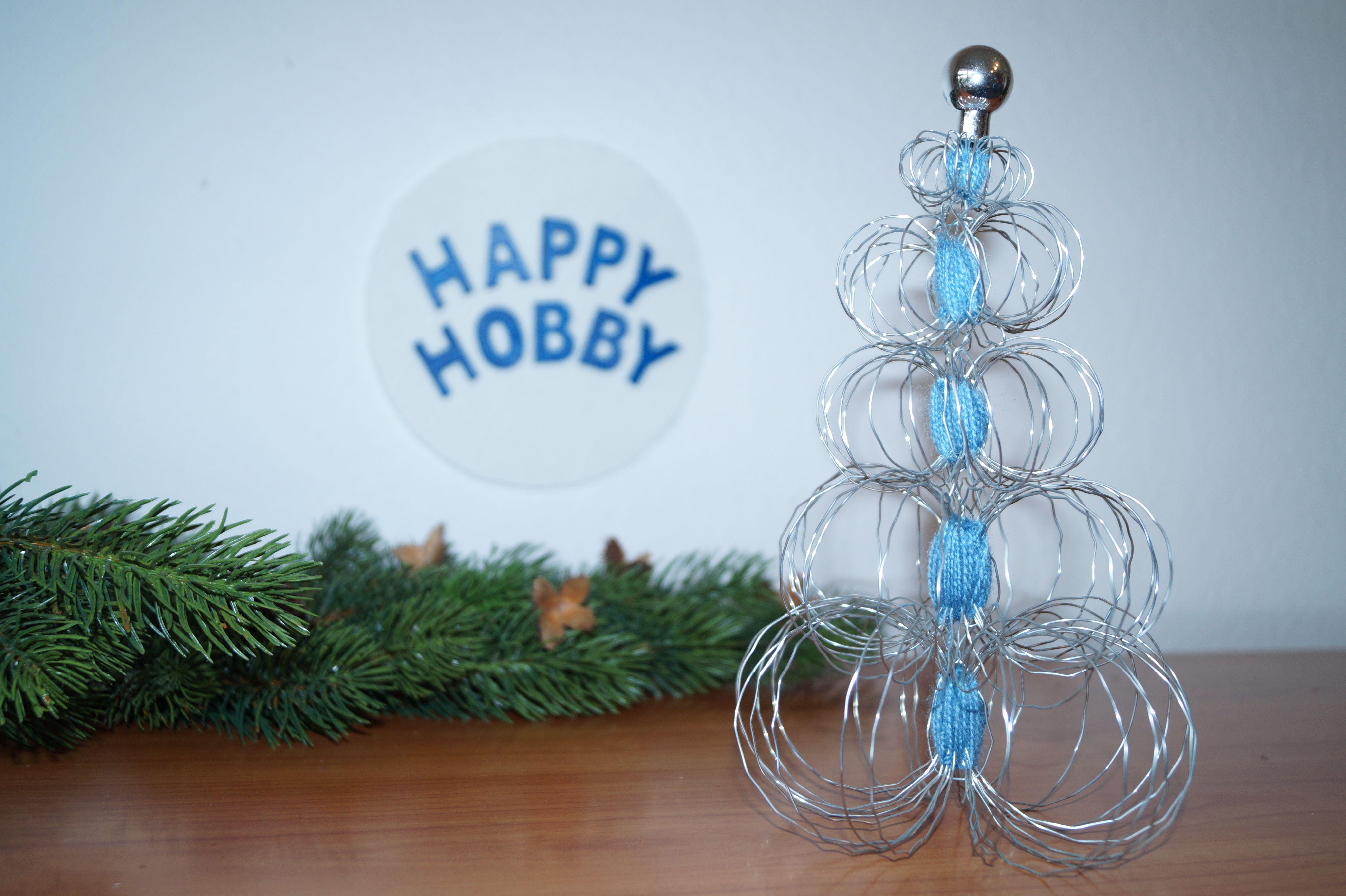Weihnachtsbaum aus Draht und Wolle, Tanne Deko Weihnachten, Winter ...