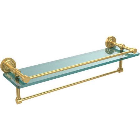 Dottingham 22 inch Gallery Glass Shelf with Towel Bar (Build to Order)