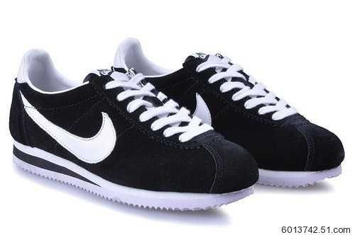 innovative design 9e008 15b9a Nike Cortez Black And White Suede gatwick-airport-parking ...