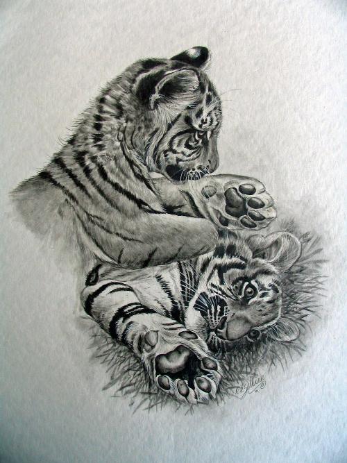 Tiger Cubs Cartoon Pictures Of Tiger Cubs Tattoo Tiger Tattoo Design Animal Tattoos
