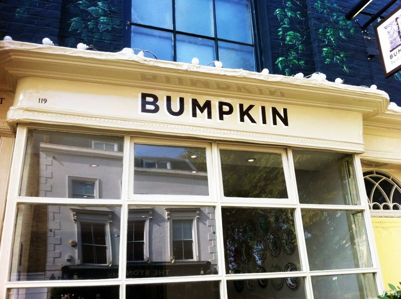 Hand Painted Bumpkin Restaurant In London Jfkltdcouk Signwriting