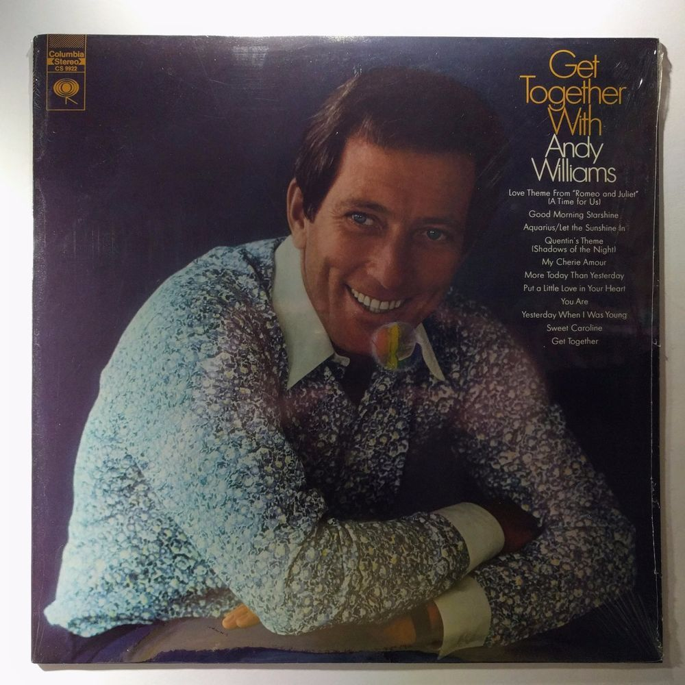 Sealed Vinyl Record Andy Williams Get Together With Andy