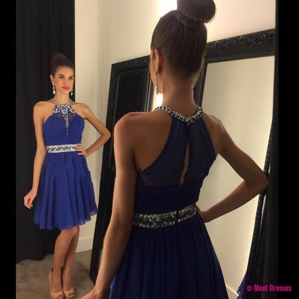 Royal blue homecoming dresssimple homecoming dressesbeading