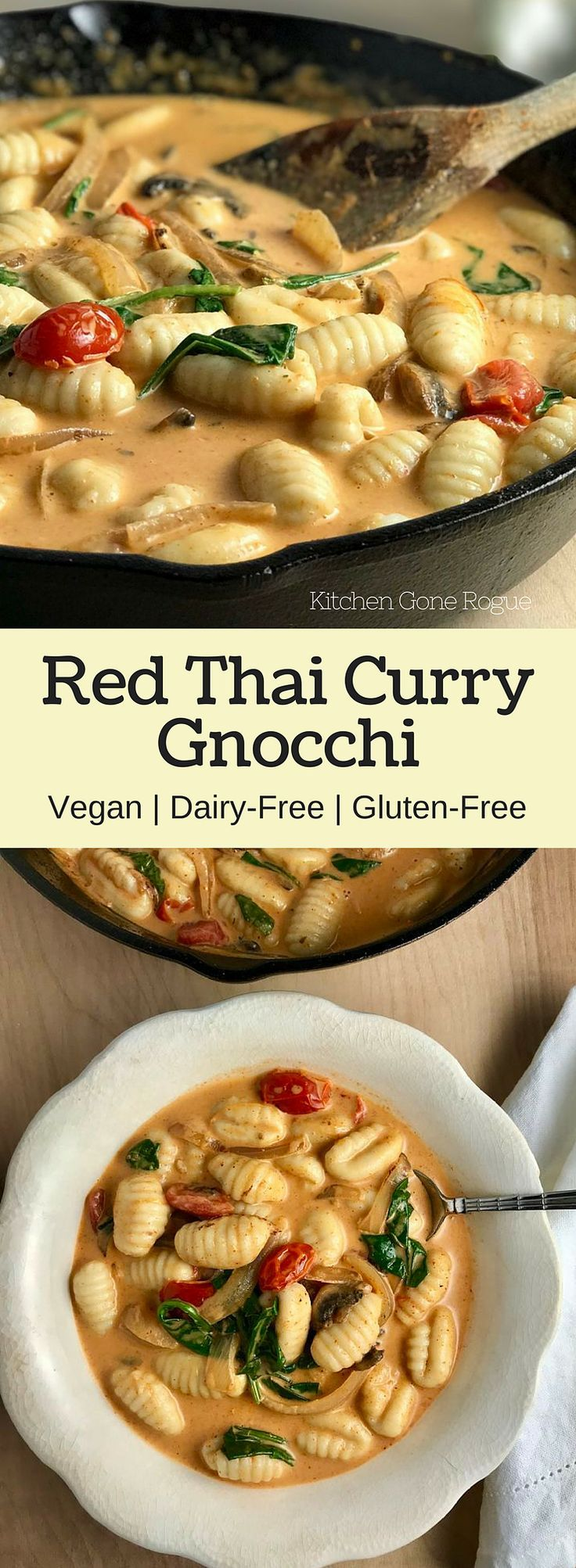 follow me @cushite Red Thai Curry Gnocchi Gluten Free Vegan Dairy Free Kitchen Gone Rogue