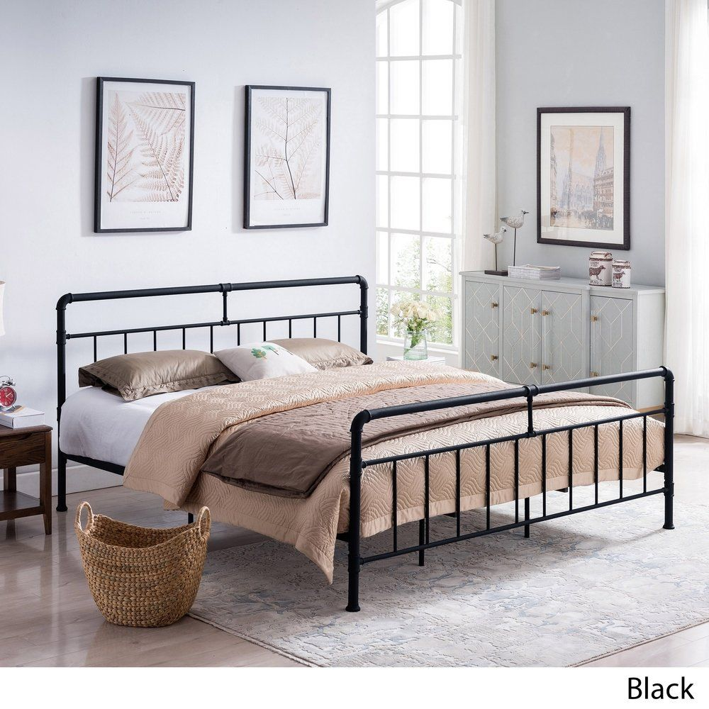 Mowry Industrial Queen Size Bed Frame By Christopher Knight Home King Size Bed Frame Bed Frame Queen Size Bedding