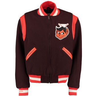 a34e194a931 Men s St. Louis Browns Mitchell   Ness Brown Wool Varsity Jacket ...
