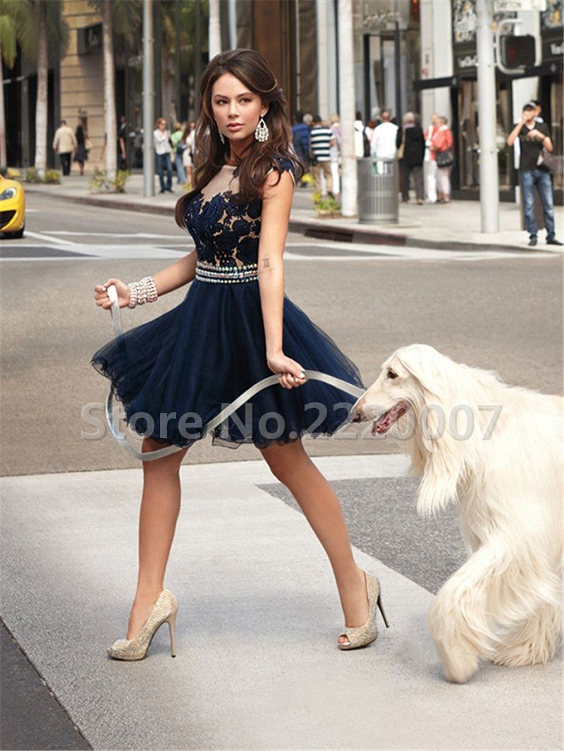 Elegant homecoming dress lace appliques homecoming dresses scalloped