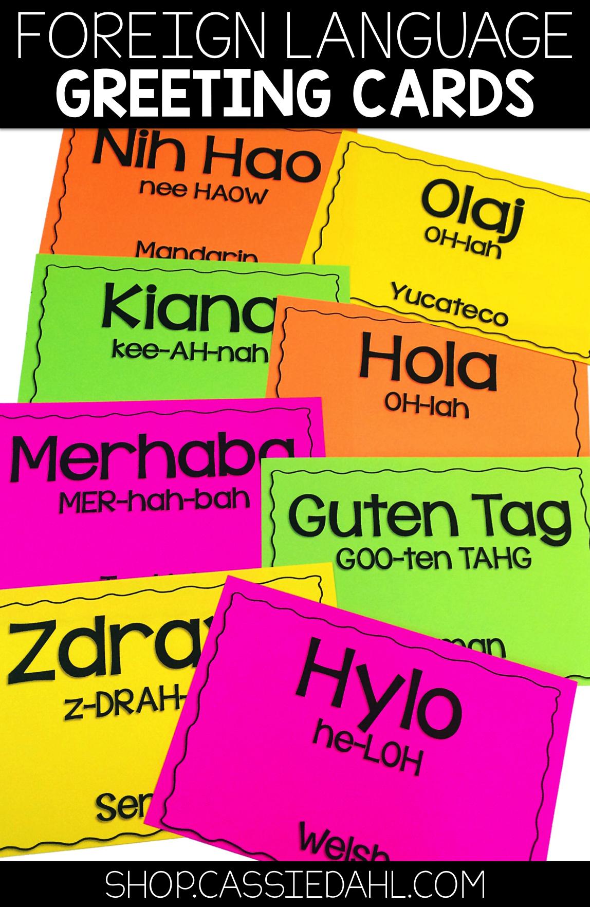 Foreign Language Greeting Cards Morning Meeting Language