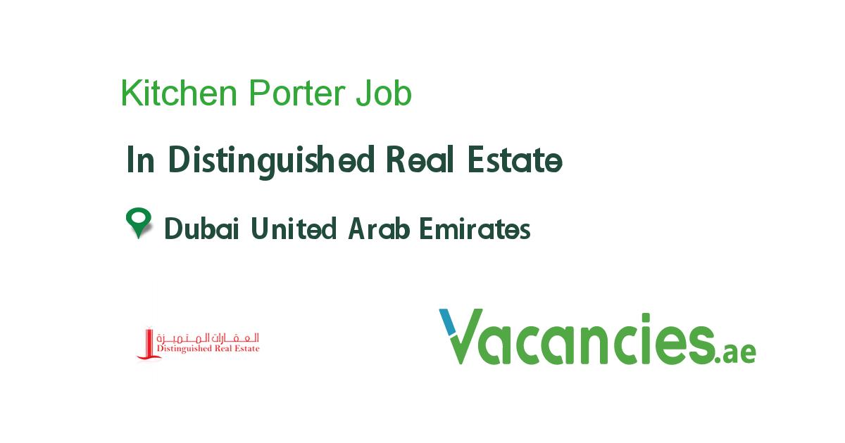 Kitchen Porter Job Real Estate Dubai
