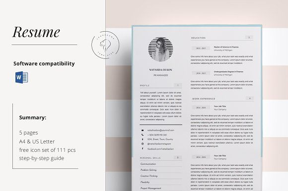 Resume Template for MS Word @creativework247 Resume Skills - resume 5 pages