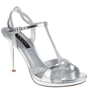 69acd9185fe Nina REILLY SILVER GLITTER 3 inch heels at Shoe Carnival