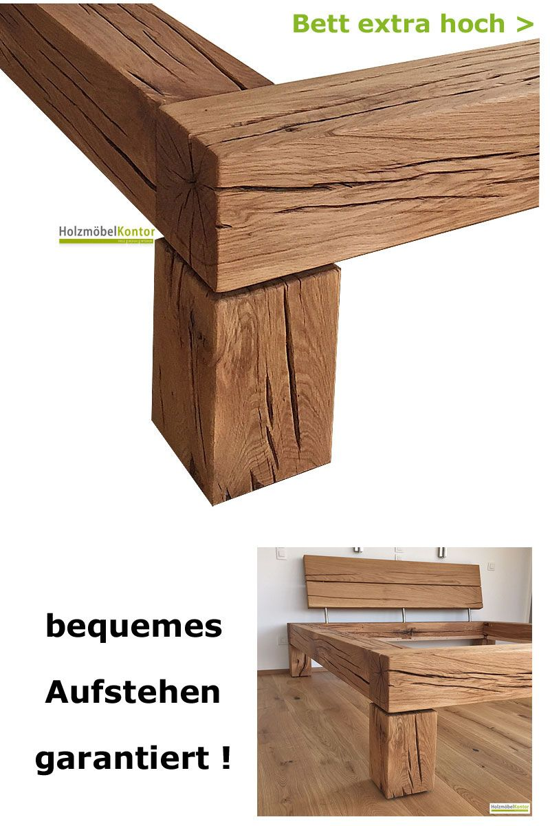 bett extra hoch in 2019 betten aus massivholz. Black Bedroom Furniture Sets. Home Design Ideas