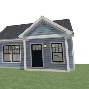 Modern house plans tiny house blueprints small house plans B PDF modern house plan modern tiny house plans prefab tiny house house