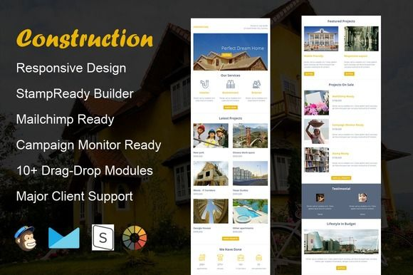 Construction - Email Template by guiwidgets templates on - responsive email template