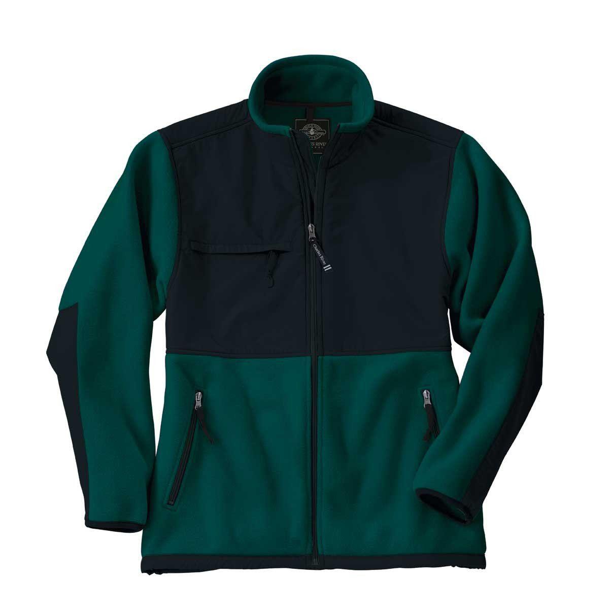 Charles river menus forestblack evolux fleece jacket in