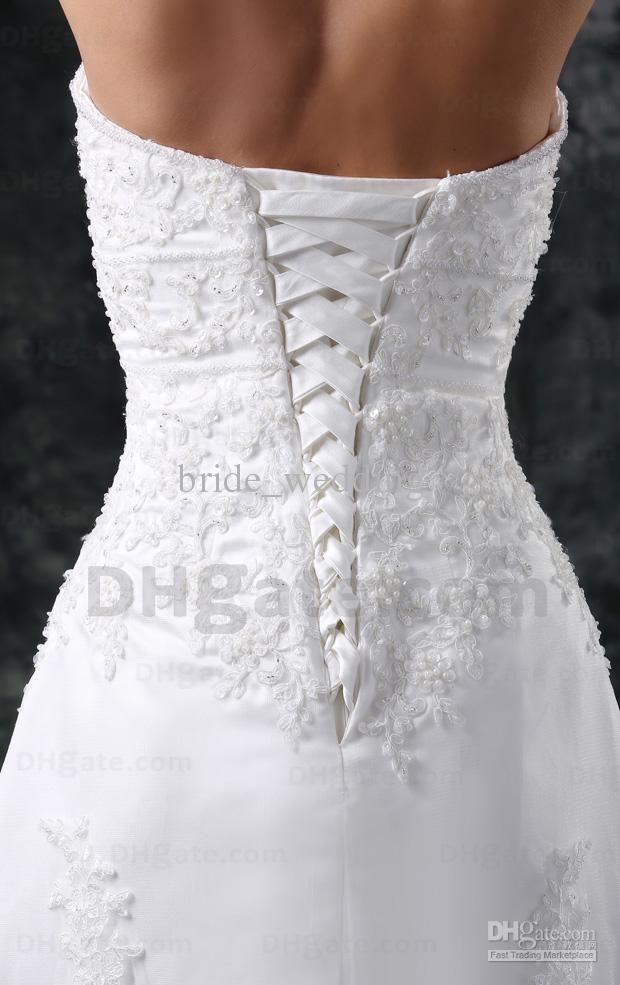 Elegant Short Front Long Back Wedding Dresses A Line Lace Beaded ...