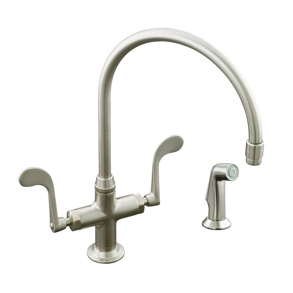 Kohler Essex Single Hole 2 Handle Standard Kitchen Faucet In Vibrant