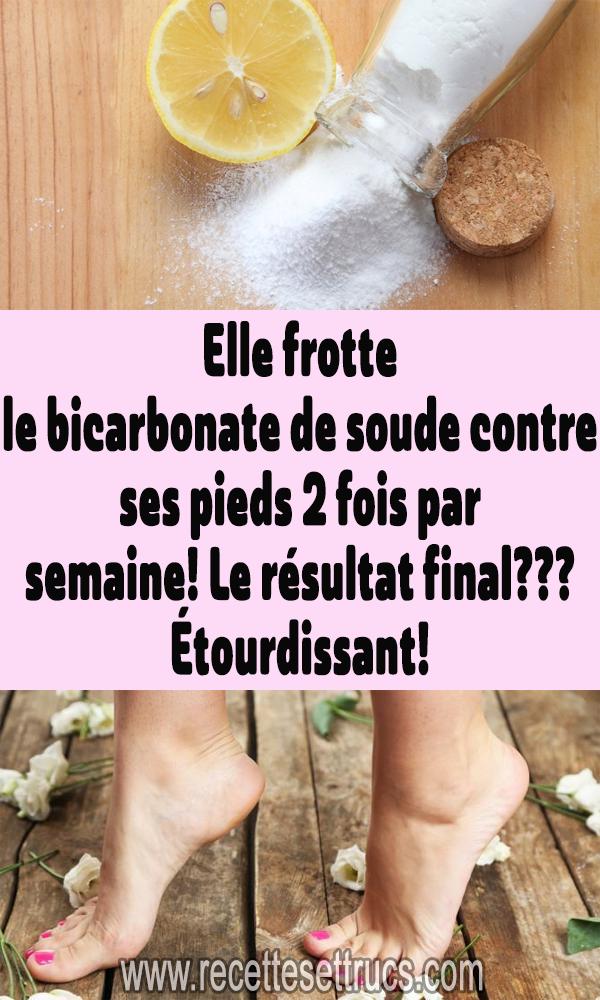 Elle frotte du bicarbonate de soude contre ses pieds 2 fois par semaine! La res …   – beauté naturelle