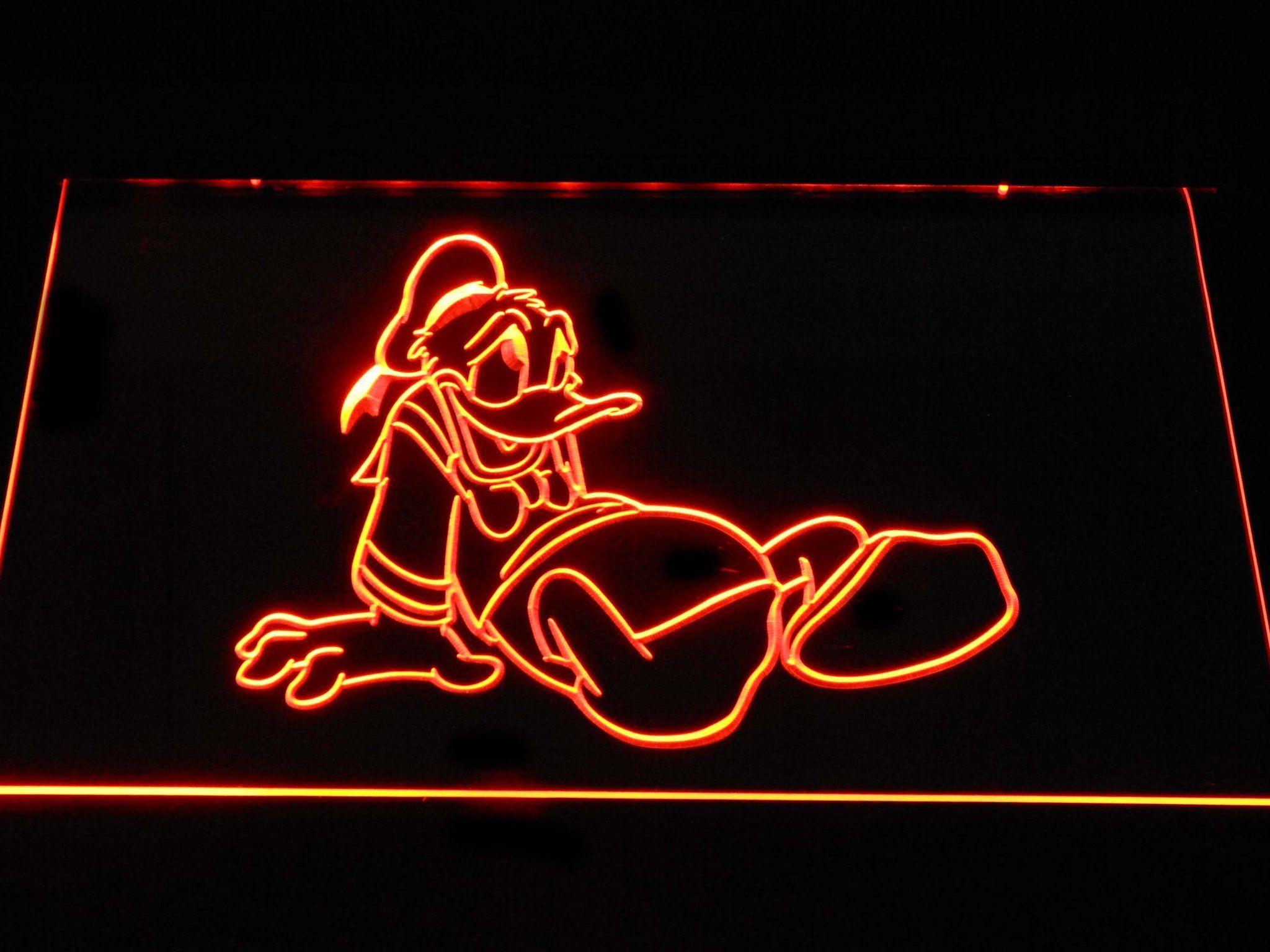 Disney Donald Duck Slump LED Neon Sign g374 12 Neon