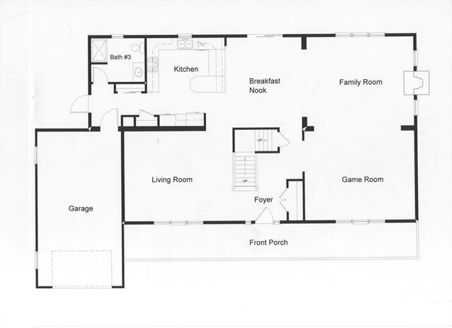 Open Floor Plan Allows Easy Traffic Flow Housey