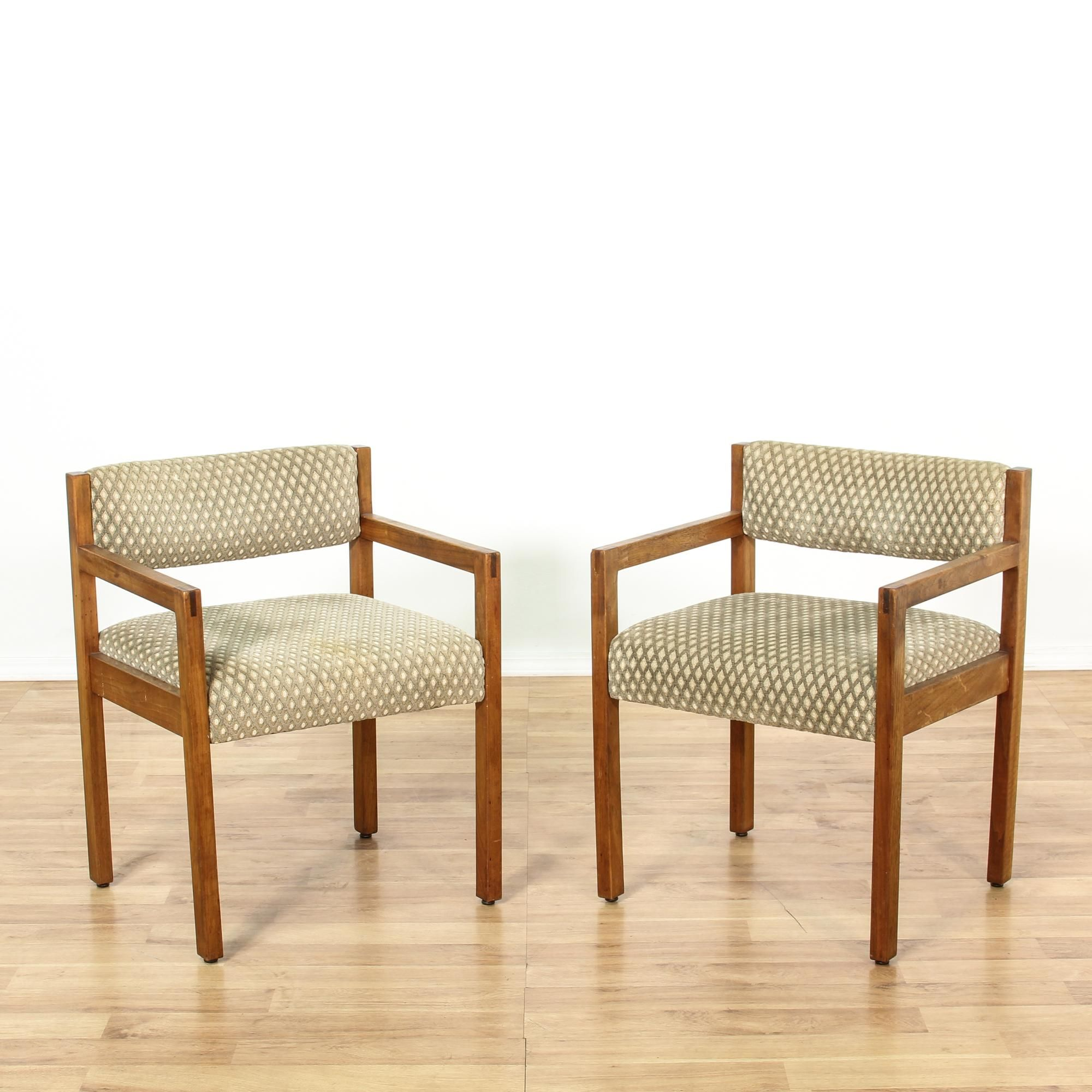 Sqaure Mid Century Modern Accent Chairs.This Pair Of Mid Century Modern Accent Chairs Are Featured In A