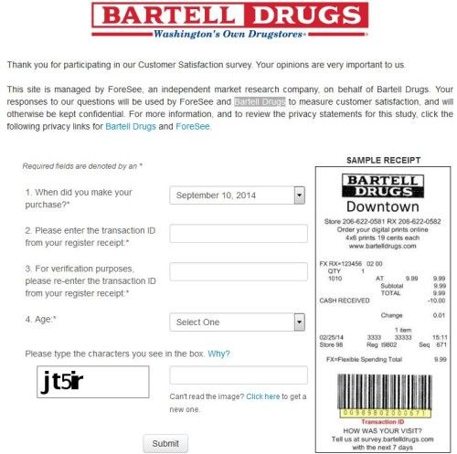 Bartell Drugs Customer Satisfaction Survey SurveyBartelldrugs