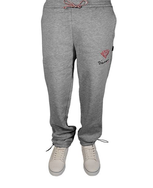 Diamond Supply Co. - Embroidered OG Logo Sweatpants (Heather Red ... 096e597740977