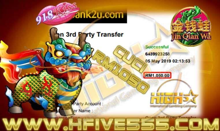 918kiss JinQianWa slot Free game Bigwin Tahniah boss cuci