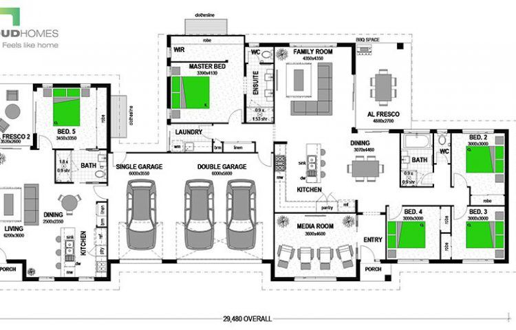 Floor Plan Friday Family Home With Great Entrance Area In 2020 Home Design Floor Plans Stroud Homes Floor Plans